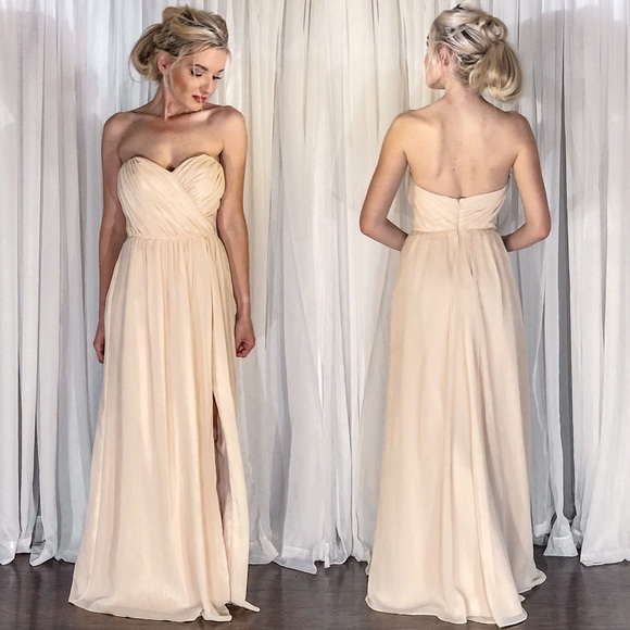 042e444ce2910 Jim Hjelm Occasions Dresses | Ivory Cream Chiffon Strapless ...